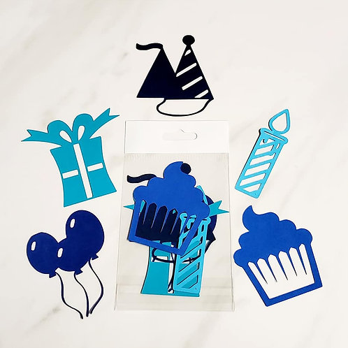 Birthday Die Cut Silhouette Mini Set