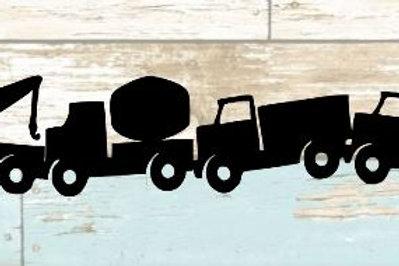Toy Trucks Scrapbook Border
