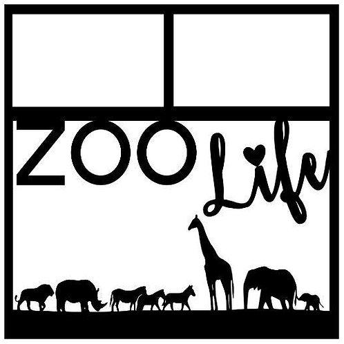 Zoo Life Scrapbook Overlay