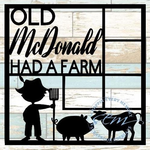 Old McDonald Had A Farm Scrapbook Overlay