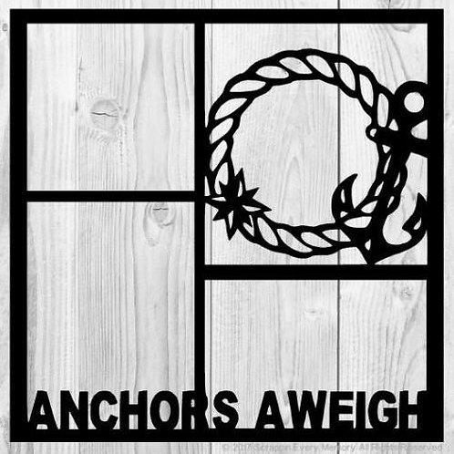 Anchors Aweigh Scrapbook Overlay