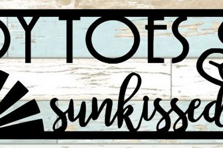 Sandy Toes Sunkissed Nose Scrapbook Title