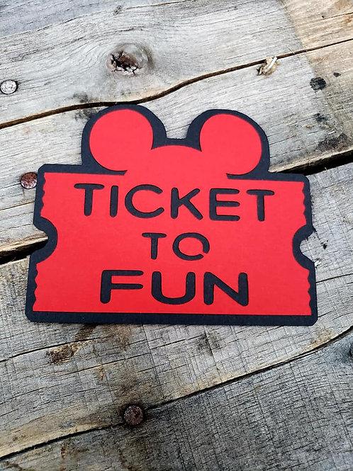 Ticket To Fun Paper Piecing Die Cut