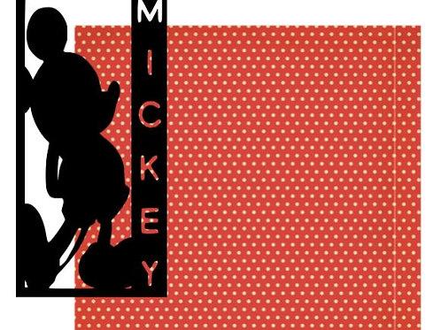 Mickey Vertical Scrapbook Title
