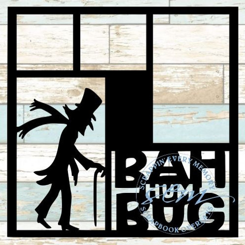 Bah Humbug Scrapbook Overlay