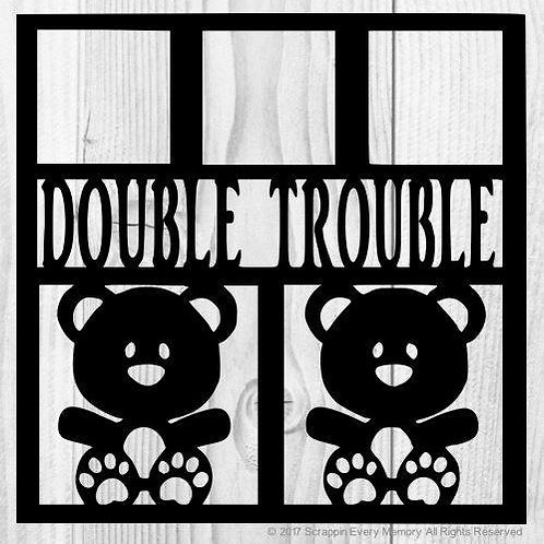 Double Trouble Scrapbook Overlay