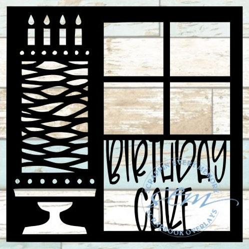 Birthday Cake Scrapbook Overlay