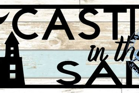 Castles In The Sand Scrapbook Title