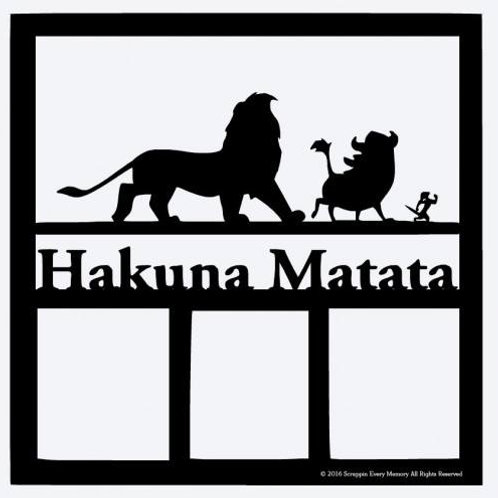 Hakuna Matata Scrapbook Overlay