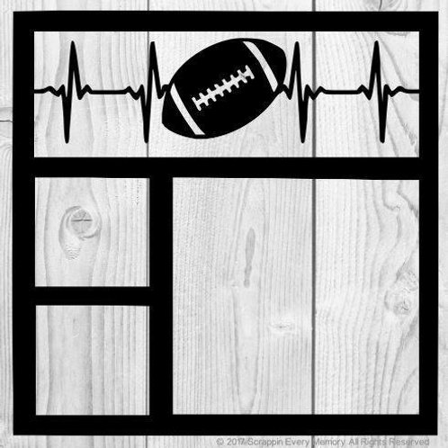 Football Heartbeat Scrapbook Overlay