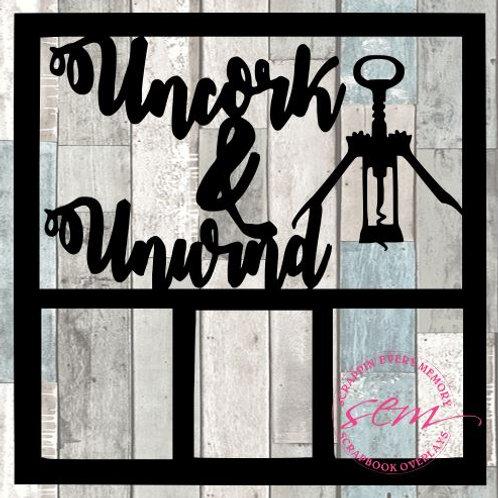 Uncork & Unwind Scrapbook Overlay