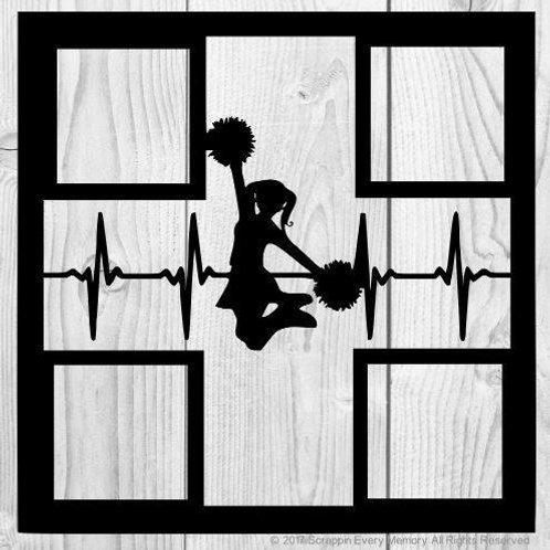Cheerleader Heartbeat Scrapbook Overlay