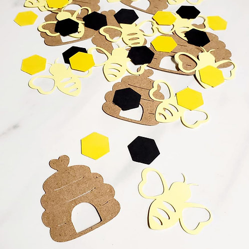 Bee and Hive Scrapbook Page Confetti