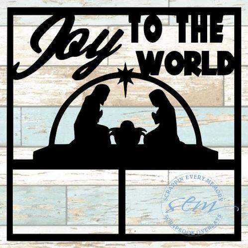 Joy To The World Scrapbook Overlay