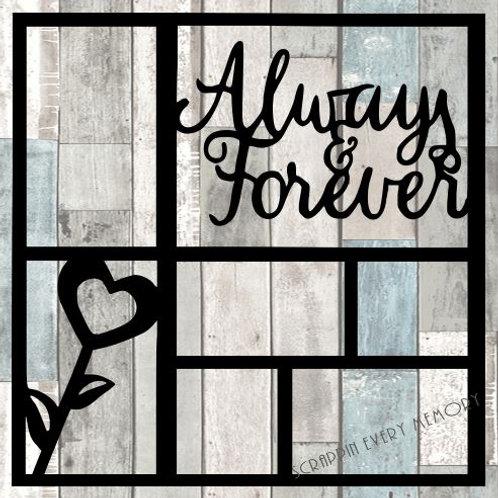 Always & Forever Scrapbook Overlay