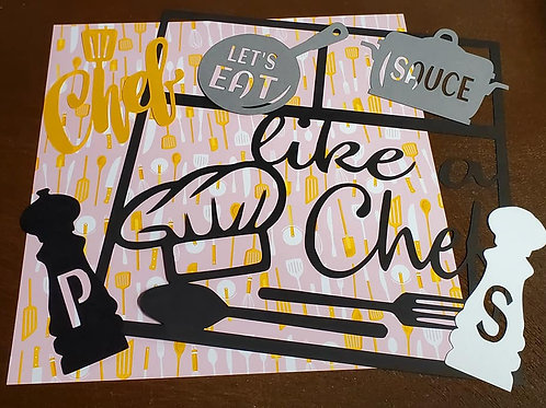 Like A Chef Scrapbook Page Kits