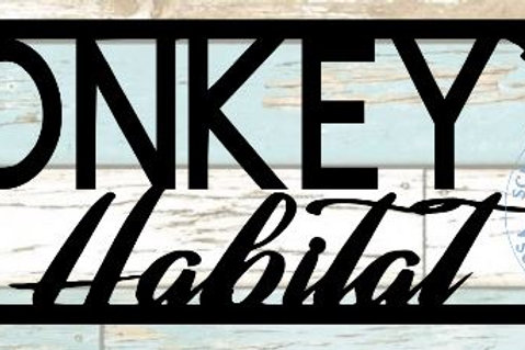 Monkey Habitat Scrapbook Title