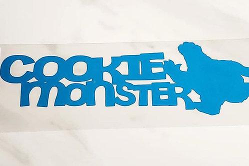 Cookie Monster Scrapbook Deluxe Die Cut