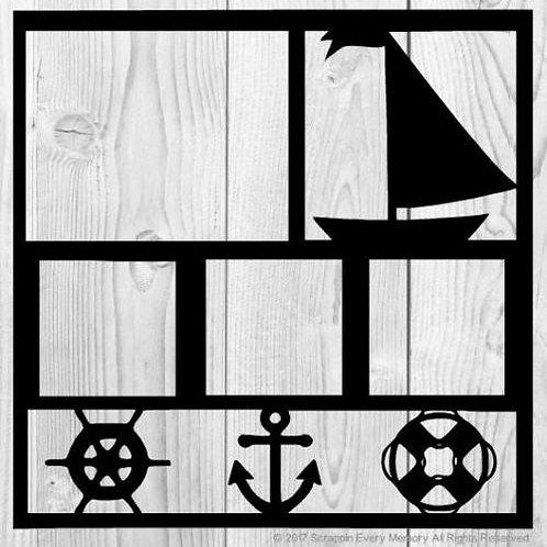 Sail Boat Scrapbook Overlay