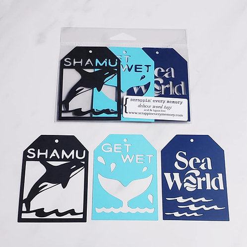 Sea World Deluxe Word Tags