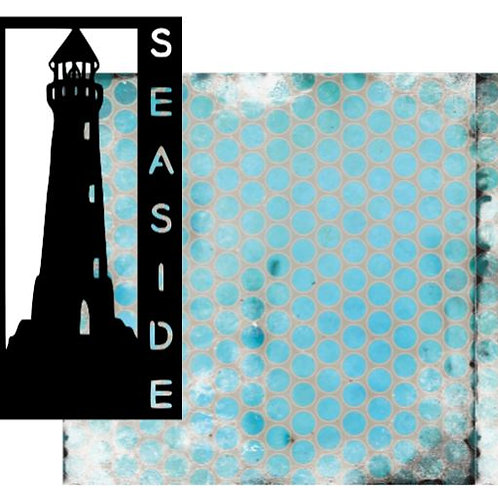 Seaside Vertical Scrapbook Title