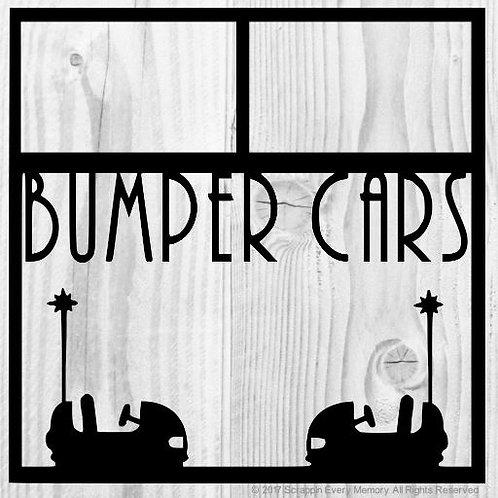 Bumper Cars Scrapbook Overlay