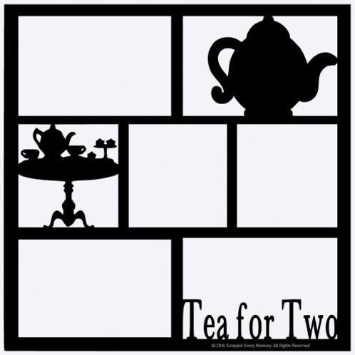 Tea For Two Scrapbook Overlay