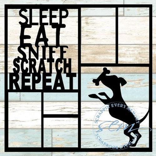 Sleep Eat Sniff Scratch Repeat Scrapbook Overlay