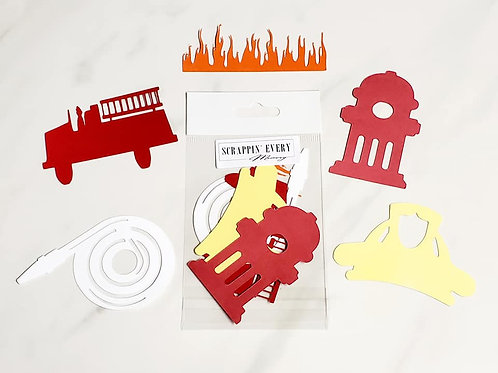 Fireman Die Cut Silhouette Mini Set