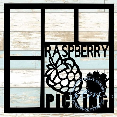 Raspberry Picking Scrapbook Overlay