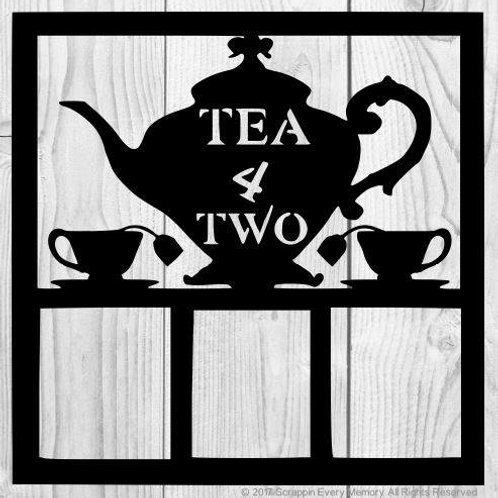 Tea 4 Two Scrapbook Overlay