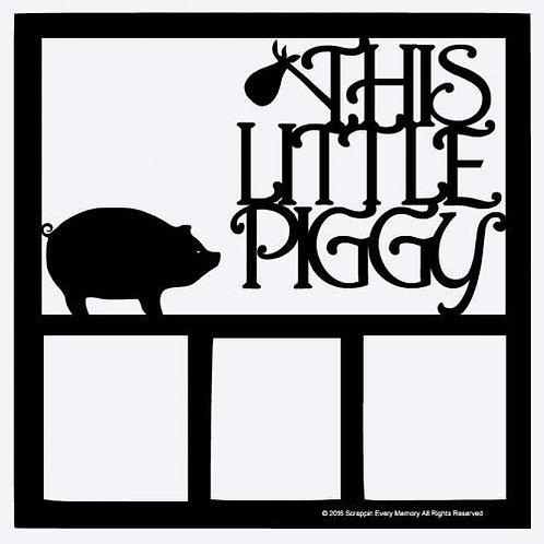This Little Piggy Scrapbook Overlay
