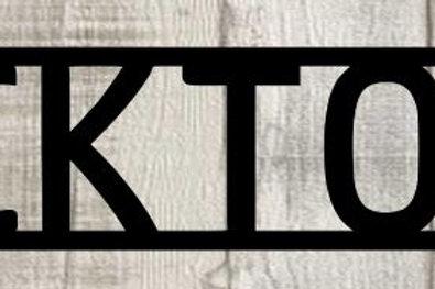 Ticktock Scrapbook Page Title Single