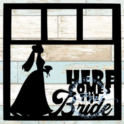 Here Comes The Bride Scrapbook Overlay