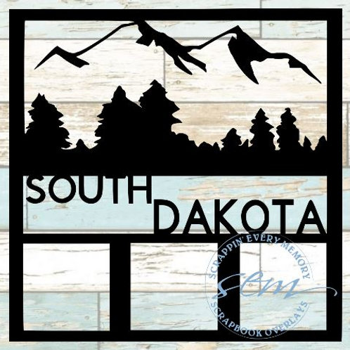South Dakota Scrapbook Overlay