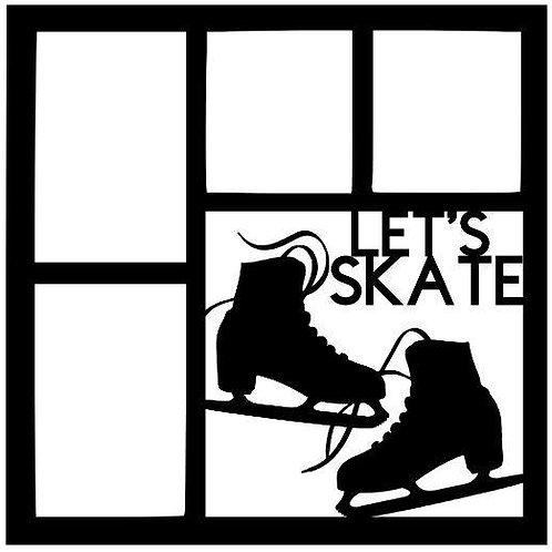 Let's Skate Scrapbook Overlay
