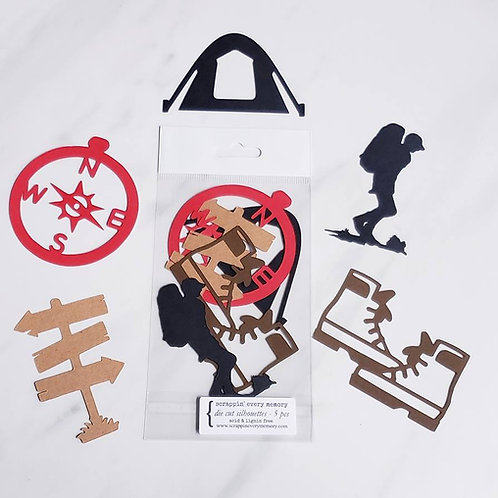 Hiking Die Cut Silhouette Mini Set