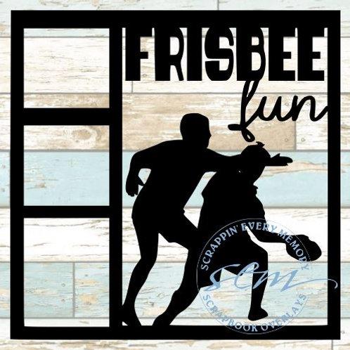Frisbee Fun Scrapbook Overlay