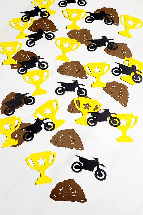 Dirt Bike Theme Scrapbook Page Confetti