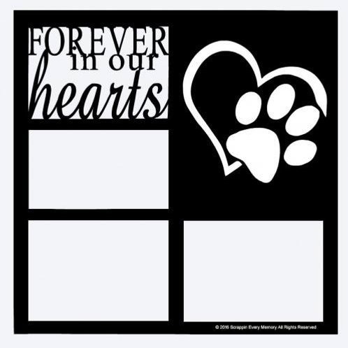 Forever In Our Hearts Scrapbook Overlay