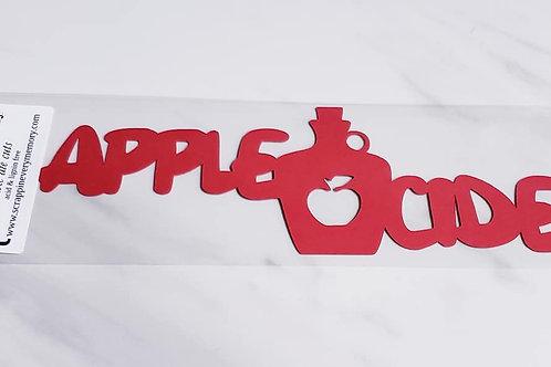 Apple Cider Scrapbook Deluxe Die Cut