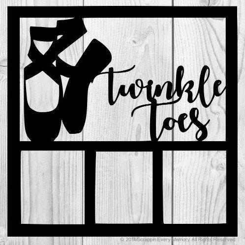 Twinkle Toes Scrapbook Overlay