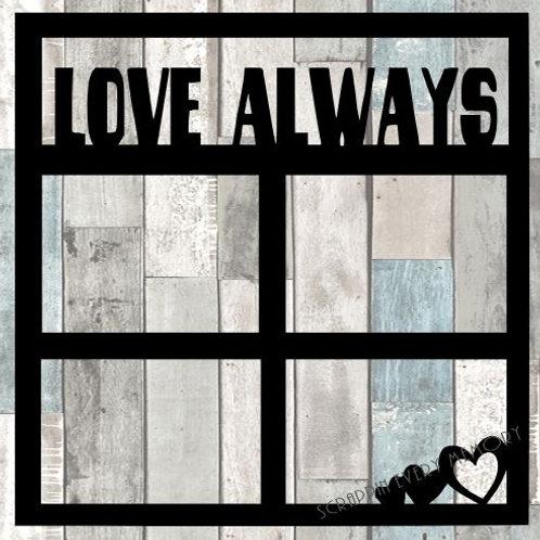 Love Always Scrapbook Overlay