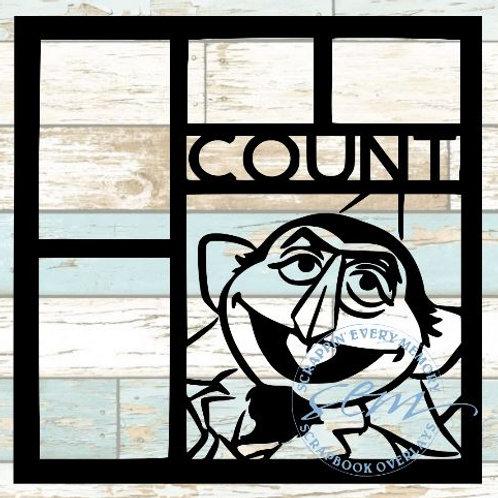 Count Sesame Street Scrapbook Overlay