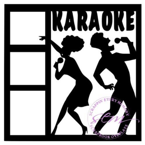 Karaoke Scrapbook Overlay