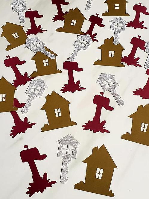 New Home Theme Scrapbook Page Confetti