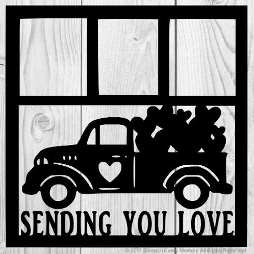 Sending You Love Scrapbook Overlay