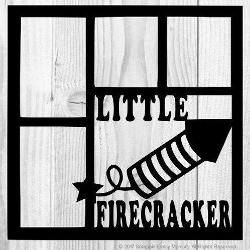 Little Firecracker Scrapbook Overlay