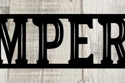 Semper Fi Scrapbook Page Title Single