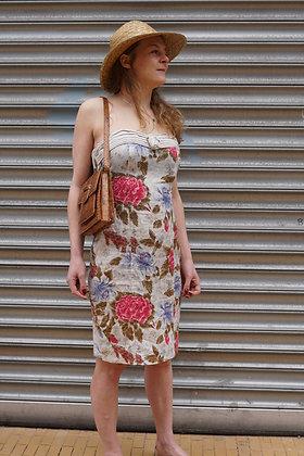 Tropical linnen jurk